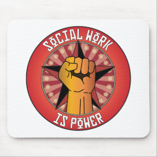Social Work Is Power Mouse Pads