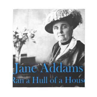 Social Work: Jane Addams Ran a Hull of a House Memo Note Pads
