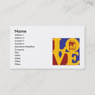 Social work business cards zazzle social work love business card colourmoves