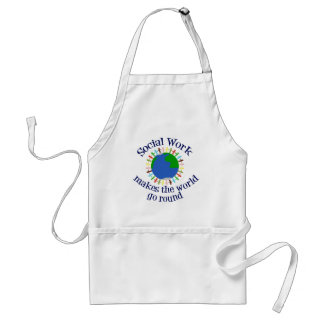 Social Work Makes the World Go Round Adult Apron