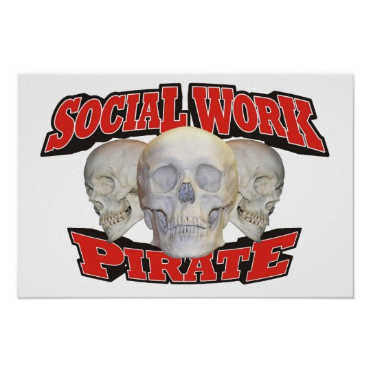 Social Work Pirate Poster