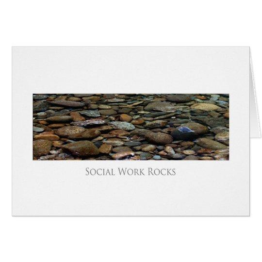 Social Work  Rocks Cards