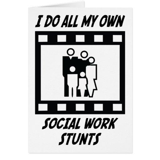 Social Work Stunts Cards