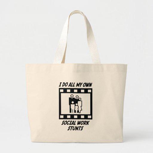 Social Work Stunts Jumbo Tote Bag