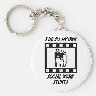Social Work Stunts Keychain
