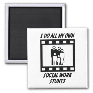 Social Work Stunts Magnets