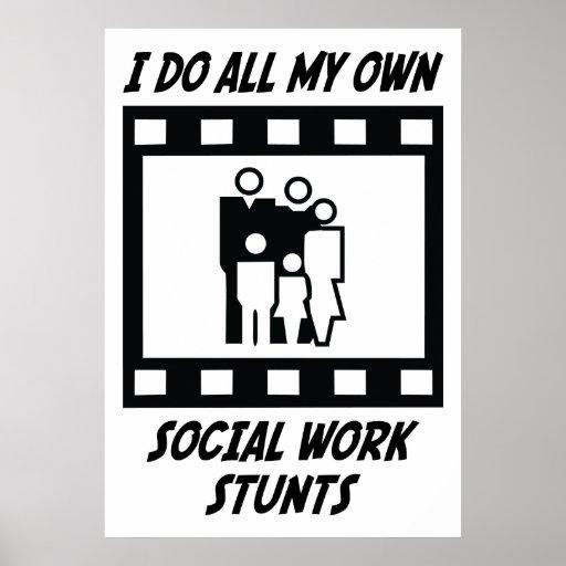 Social Work Stunts Poster