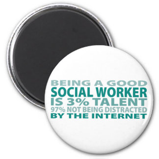 Social Worker 3% Talent 2 Inch Round Magnet