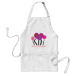 Social Worker Artsy Tree Design Gifts Adult Apron