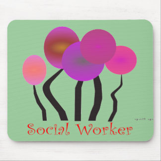 Social Worker Artsy Tree Design Gifts Mouse Pad