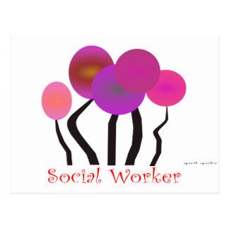 Social Worker Artsy Tree Design Gifts Postcard
