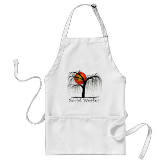 Social Worker Artsy Tree Gifts Adult Apron