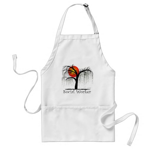 Social Worker Artsy Tree Gifts Aprons
