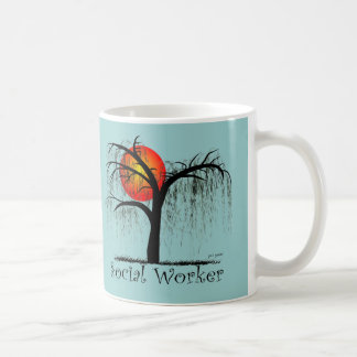 Social Worker Artsy Tree Gifts Coffee Mug