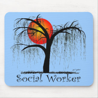 Social Worker Artsy Tree Gifts Mouse Pad