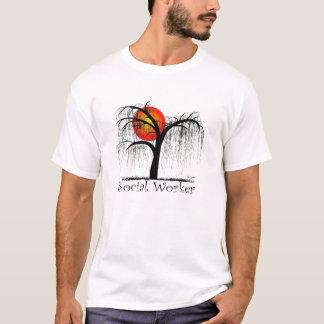 Social Worker Artsy Tree Gifts T-Shirt