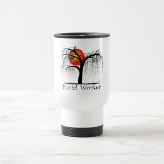 Social Worker Artsy Tree Gifts Travel Mug