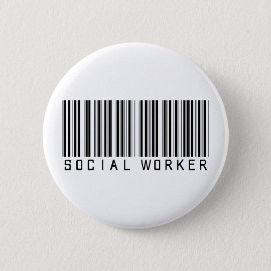 Social Worker Bar Code Button