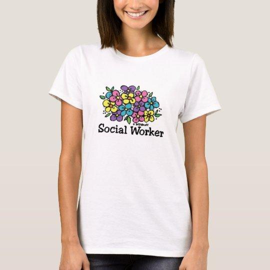 Social Worker Blooms T-Shirt