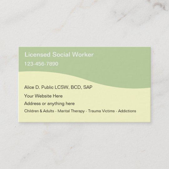 Social worker business cards zazzle social worker business cards colourmoves