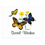 Social Worker Butterflies Postcard