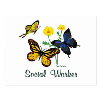 Social Worker Butterflies Post Card