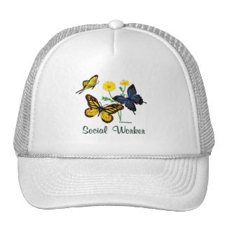 Social Worker Butterflies Trucker Hat