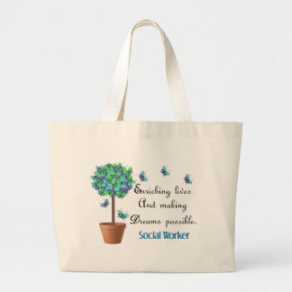 Social Worker Butterfly Tree Tote Bag