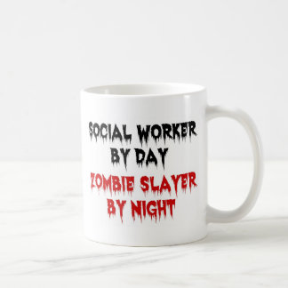 Social Worker by Day Zombie Slayer by Night Classic White Coffee Mug