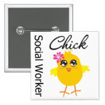 Social Worker Chick Button