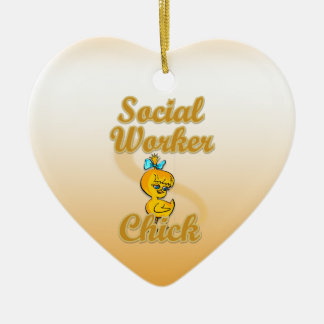 Social Worker Chick Christmas Ornaments