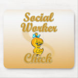 Social Worker Chick Mouse Pad
