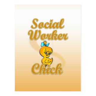 Social Worker Chick Postcard