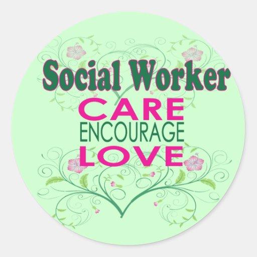 Social Worker Classic Round Sticker