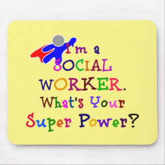 Social Worker Colorful Design Mouse Pad
