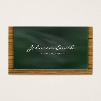 Social Worker - Cool Chalkboard Business Card