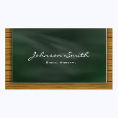 Social Worker - Cool Chalkboard Business Cards