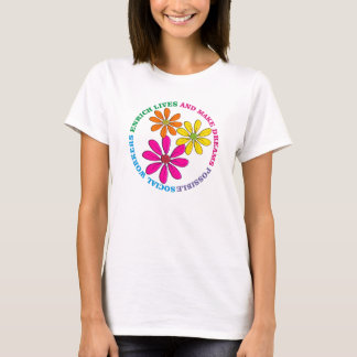 Social Worker Daisies T-Shirt