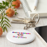 Social Worker Dedicated to Helping Others Basic Round Button Keychain