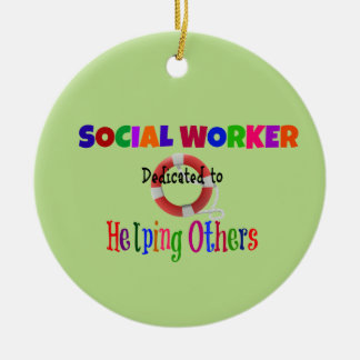Social Worker Dedicated to Helping Others Ceramic Ornament