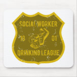 Social Worker Drinking League Mouse Pad