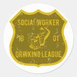 Social Worker Drinking League Sticker
