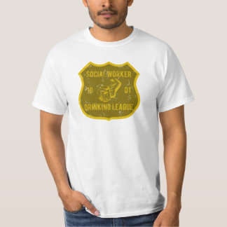 Social Worker Drinking League Tshirts