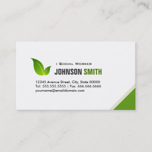 School Social Worker Business Cards