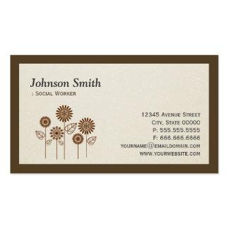 Social Worker - Elegant Tree Symbol Business Card Template