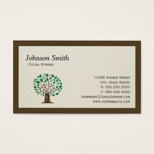 For social workers business cards templates zazzle social worker elegant tree symbol business card colourmoves