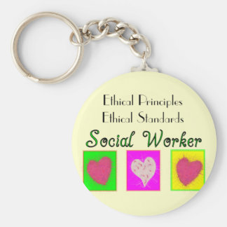 Social Worker Ethical Principles-Ethical Standards Keychain