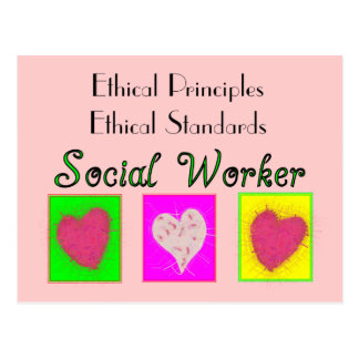 Social Worker Ethical Principles-Ethical Standards Postcard