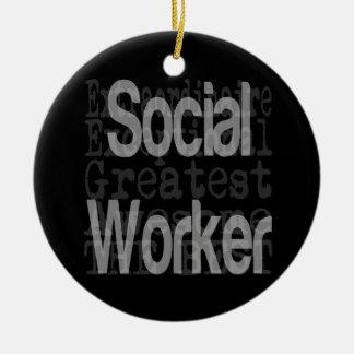 Social Worker Extraordinaire Ceramic Ornament