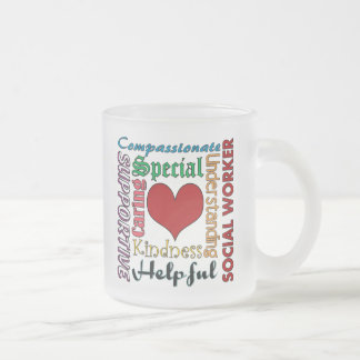 Social Worker Frosted Glass Coffee Mug
